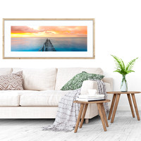 "Panoramic 30 x 90"" Print, 40x60"" Archive Quality Matt and box frame"